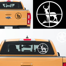 free shipping 1PC aiming at a deer hunting vinyl graphics decals car sticker for pickup window  tail gate