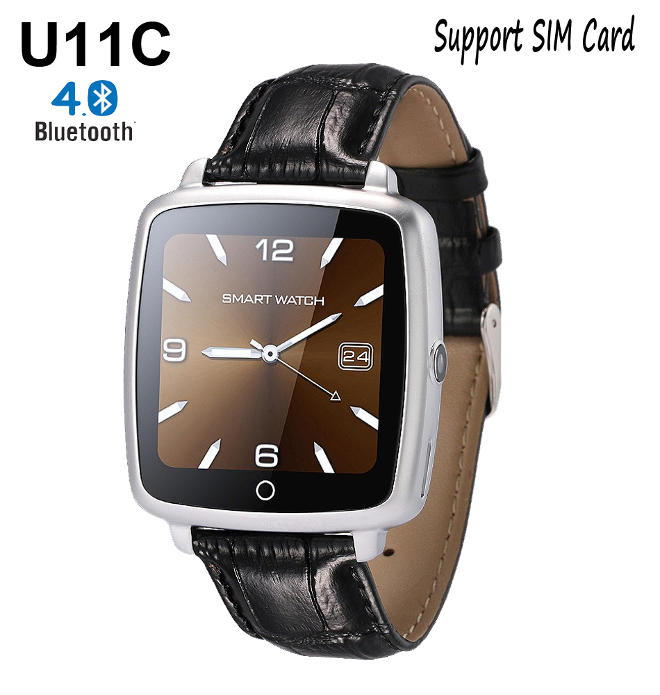 New Smartwatch U11C Bluetooth <font><b>Pedometer</b></font> Sleep Monitor Smart <font><b>Watch</b></font> <font><b>Support</b></font> <font><b>SIM</b></font> Card Wristwatch for Android IOS PK U8 GT08 DZ09