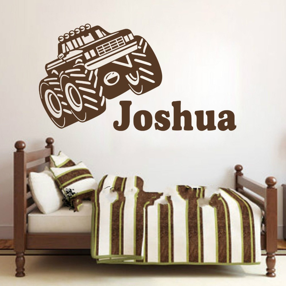 Car sticker design name - Customer Made Personalised Name Tractor Car Wall Art Stickers Kids Baby Boy Vinyl Decal