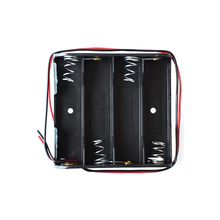 100 x AA Battery Storage Case Plastic Box Holder with 6 Cable Lead for 4pcs AA Batteries for Soldering Connecting Black NEW
