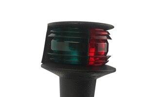 Image 4 - 12 V הימי סירת LED ניווט אור אדום ירוק Bi צבע 360 תואר כל סיבוב אות מנורת 124 MM