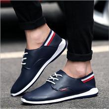 2017 Brand Men Casual Shoes Comfortable Spring Fashion Breathable Men Shoes Flats Fashion Leather Shoes Loafers Men's shoes