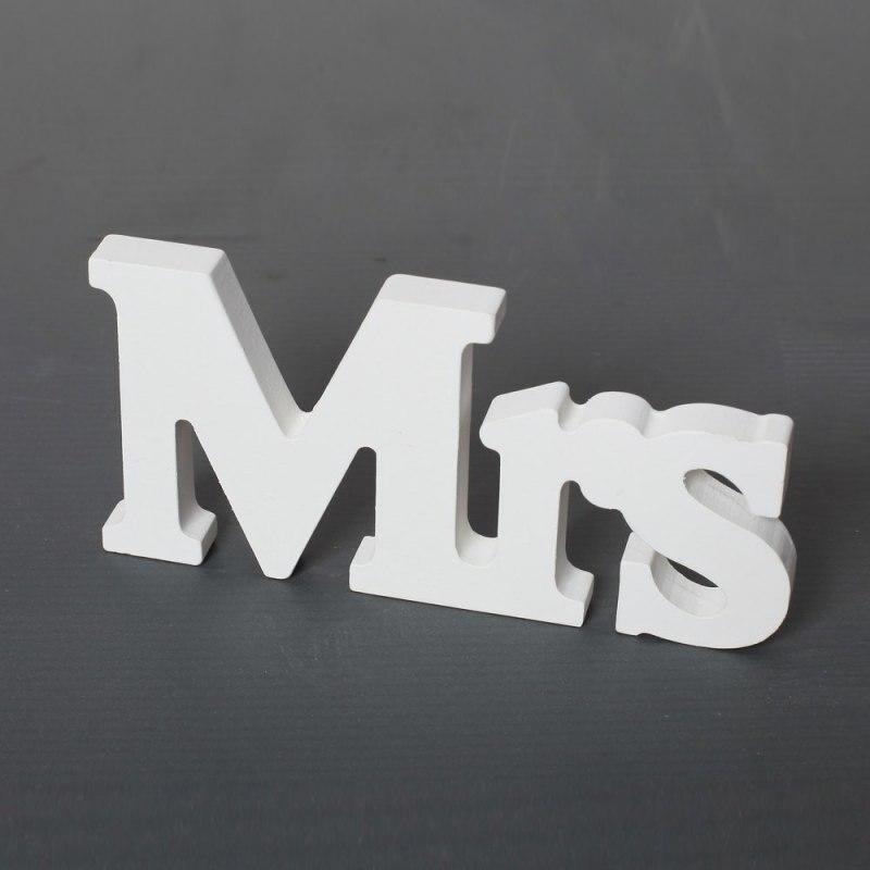 Свадьбу Аксессуары Mr & Mrs Mariage Декор День рождения Аксессуары белые буквы свадьба знак 3 шт. D1