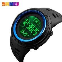 SKMEI бренд мужской моды спортивные часы Chrono обратного отсчета мужчин Водонепроницаемый цифровые часы человек военный часы Relogio Masculino