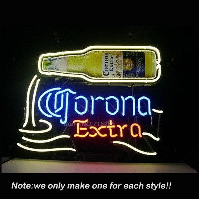 CORONA EXTRA BIER Leuchtreklame Kunst Design Zeichen Echtglas rohr Business Zeichen Handwerk Neonröhren Shop-Display Großes Geschenk VD17x14