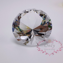 Free Shipping 60mm Perfect Gem Cutting Crystal Glass Diamond Gemstone Home Decoration Accessories