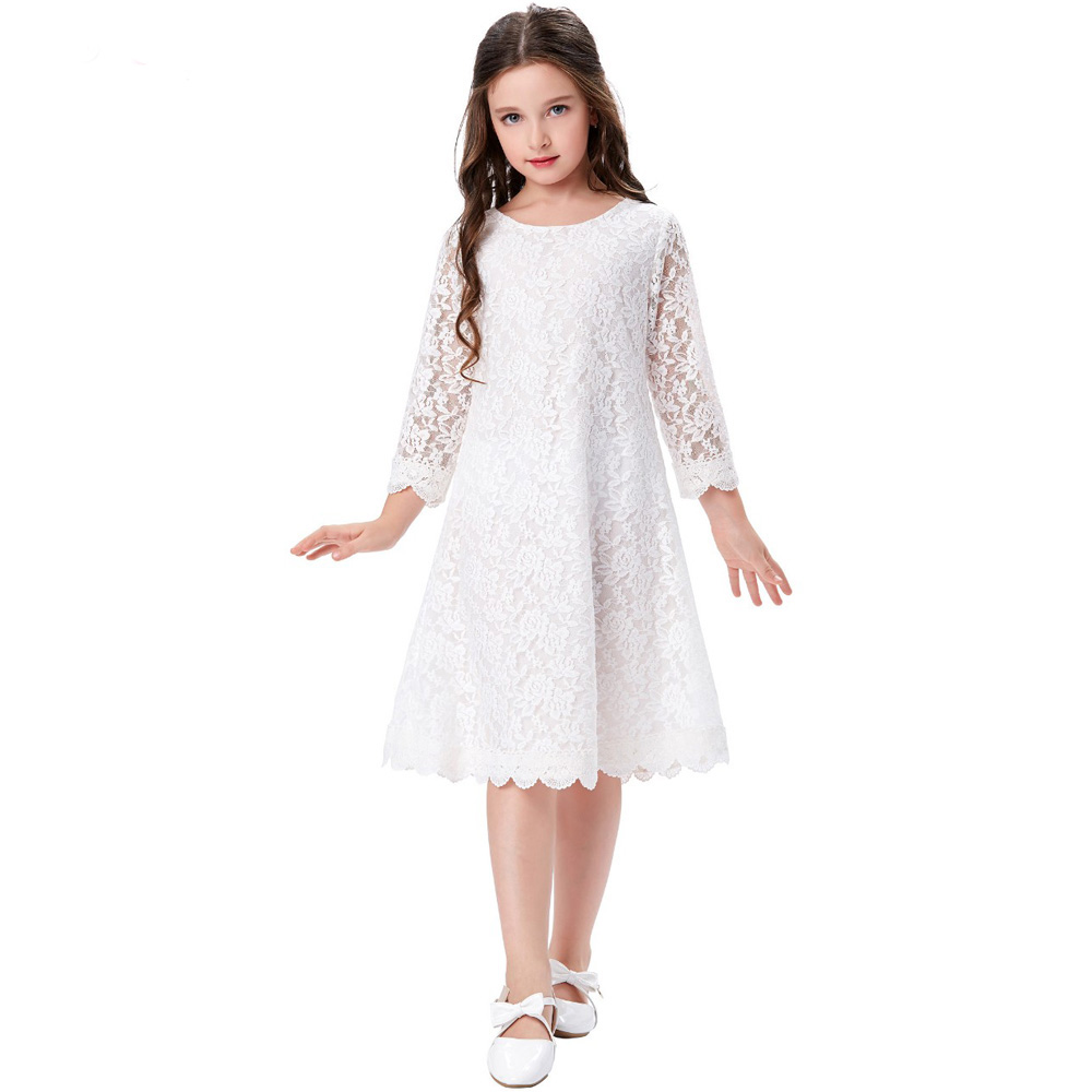 Long Sleeve Flower Girls Dresses For Wedding Lace Pageant Dresses for Girls Glitz A-Line Mother Daughter Dresses For Girls цены онлайн