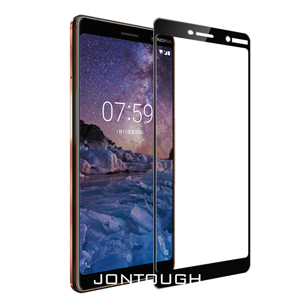 for NOKIA 7 PLUS screen protector for NOKIA 7 tempered glass full cover case friendly bubble free accessaries