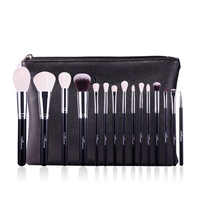 MSQ 18Pcs Makeup Brushes Set Pro Powder Blush Foundation Eyeshadow Eyeliner Lip Gold Cosmetic Brush Kit