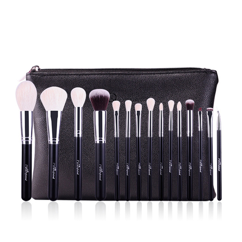 MSQ 15Pcs Makeup Brushes Set Pro Powder Blush Foundation Eyeshadow Eyeliner Lip Gold Cosmetic Brush Kit Beauty Tools 12 pieces set beauty makeup brushes set foundation powder eyeshadow eyeliner lip blush make up tools pinceis de maquiagem kit