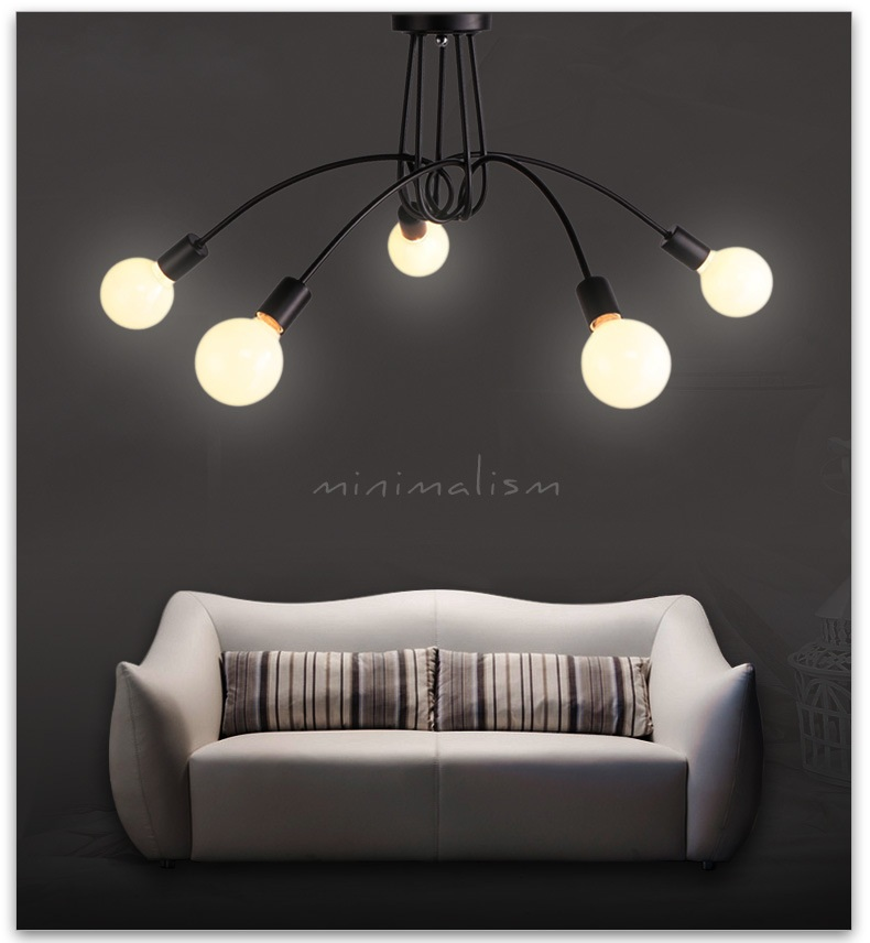 ФОТО The Nordic modern minimalist creative branch iron LED ceiling lamps  free shipping