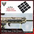 VMASZ 12 個戦術 Mlok タイプ 2 レールカバー eMag Pul タイプ m-lok スロットシステムレールパネル屋外狩猟ウォーゲームマウント
