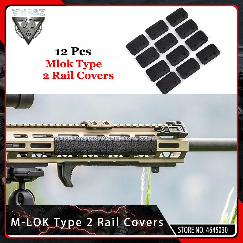 VMASZ 12PCS Tactical Mlok Type 2 Rail Covers eMag Pul Type for M-lok SLOT System Rail Panel for Outdoor Hunting Wargame Mount(China)