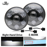 2Pcs Round 7 Inch Headlights H4 Led Car Headlight 3900Lm 2800Lm H13 Cree Chip For 4X4