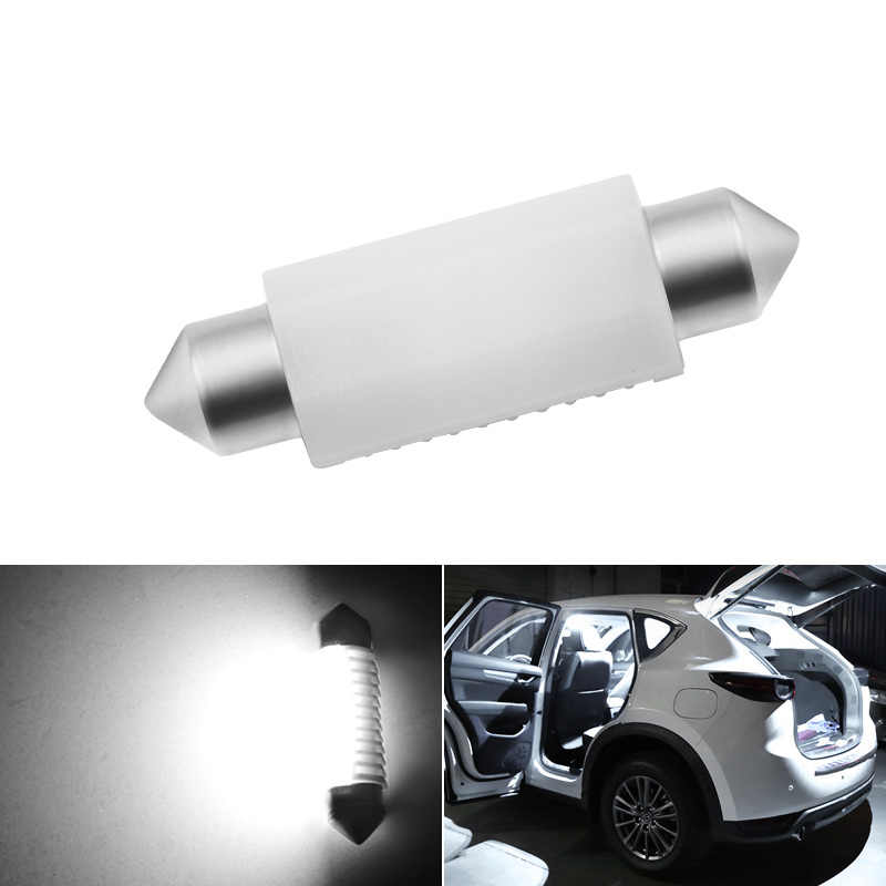 C5W led C10W Bulb Car Interior light Festoon 31mm 36mm 39mm 41mm SMD 3030 COB Reading Dome Lamp 12V 24V 6000K White Car styling