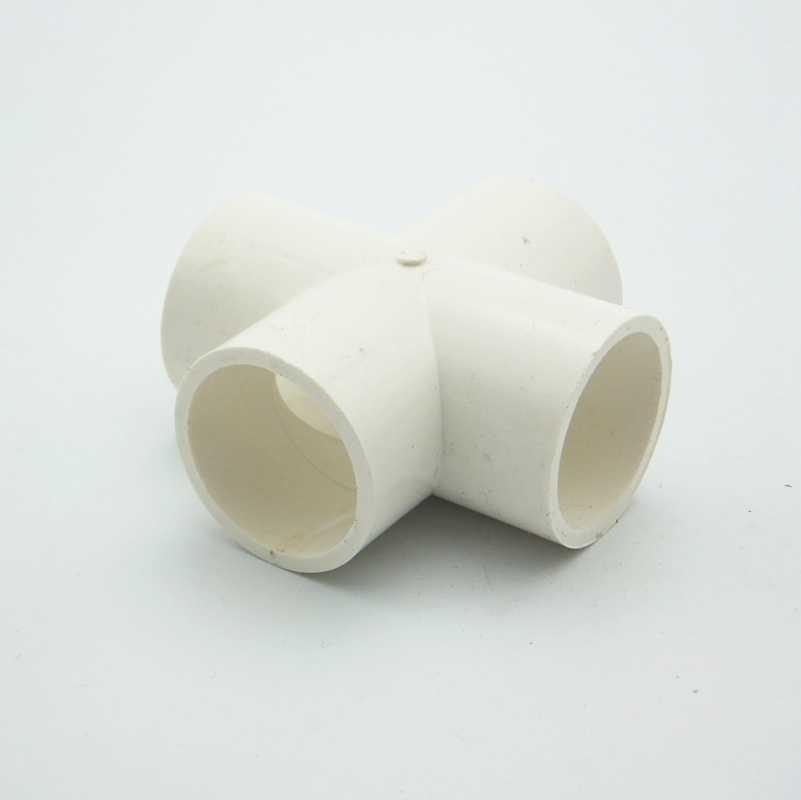 32 millimetri ID PVC 4 Way Cross Tubo Comune Tubo di Raccordo Accoppiatore Connettore di Acqua Per Il Sistema di Irrigazione del Giardino Hobby FAI DA TE