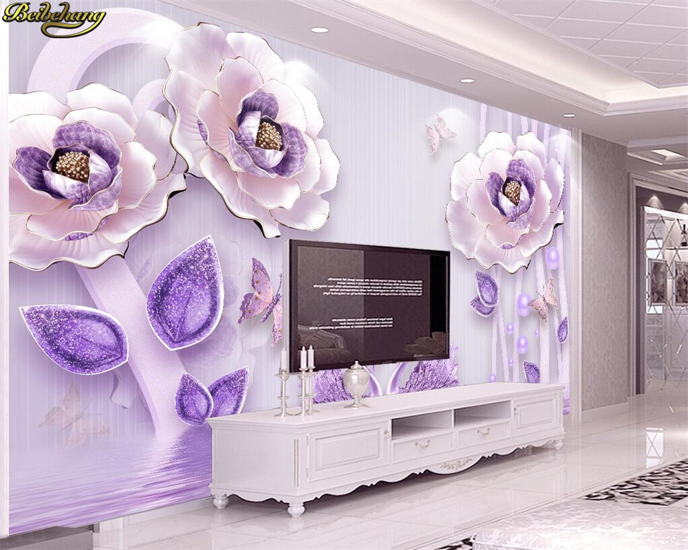 beibehang Custom photo wallpaper large mural 3D embossed blossom rich peony European TV background wall papel de parede infantil