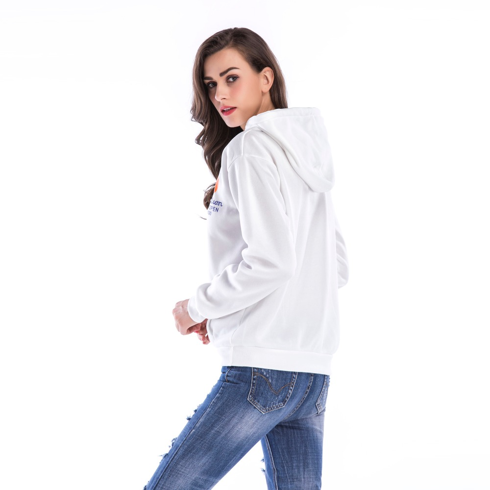 PGSD Simple Fashion Big size Women Clothes Autumn Winter Leisure Letter Printed Pocket Fleece Hooded Sweatshirt female Pullovers