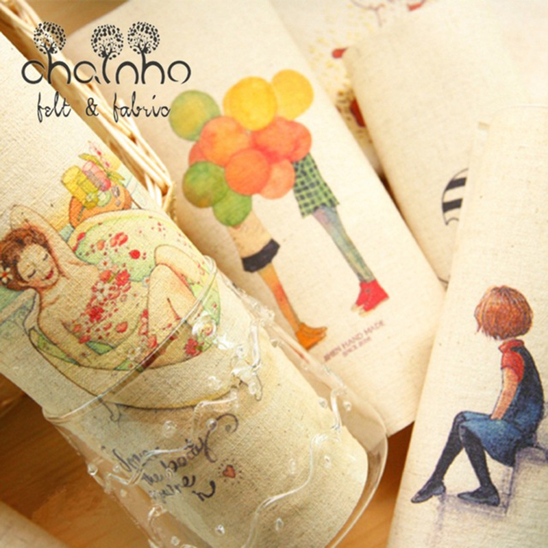 Hand Dyed Cotton Linen Fabric For DIY Sewing Quilting Patchwork Decor Cloth Of Placemat/Purse/Bags/Cushion/Pillow/Frame Painting