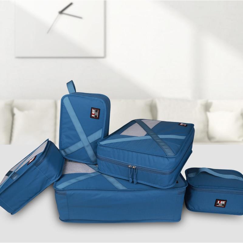 BUBM waterproof travel bag travel totes seven-piece set luggage clothes receiving bag organizer underwear bag 9 color options