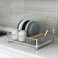 304 stainless steel bowl rack single drain dish rack kitchen rack store and hang the bowl rack LU5301
