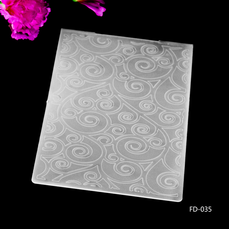 Leaves Plastic Embossing Folder For Scrapbook DIY Album Card Tool Plastic Template 10.5x14.5cm