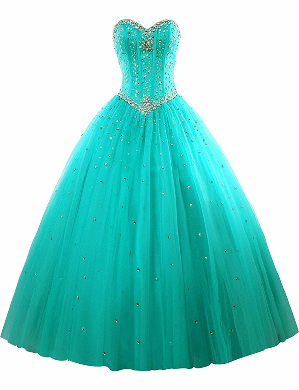 Bealegantom 2019 100% Real Photo Ball Gown Quinceanera Dresses Beaded Lace Up Sweet 16 Dress Vestidos De 15 Anos QA1549