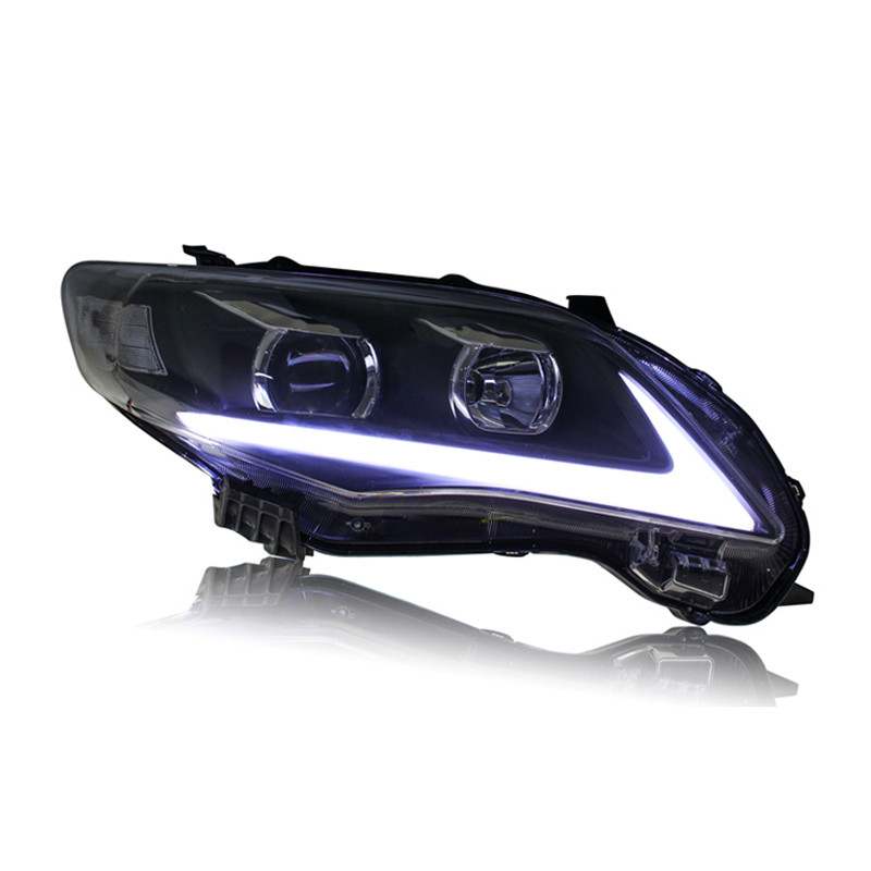 Ownsun светодиодные ДХО орлиный глаз спрятанный би-ксенон проектор Лен фара для Тойота Королла 2011-2013