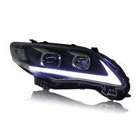 Ownсветодио дный Sun LED Eagle Eye DRLs HID Bi Xenon проектор Len фара для Toyota Corolla 2011 2013