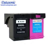 2 Pcs Ink Cartridge for HP 300 300XL Black Tricolor for HP Deskjet D1660 D2560 D2660 D5560 F2420 F2480 F2492 F4210 Printers