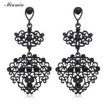 Buy leaf chandelier earrings and get free shipping on aliexpress minmin chandelier vintage earrings for women black crystal mozeypictures Image collections
