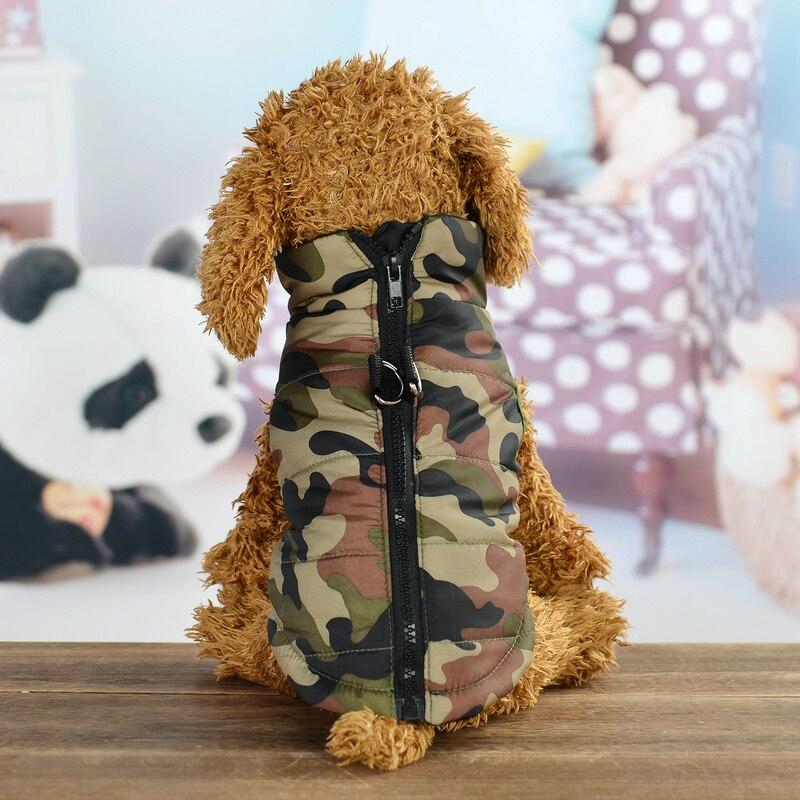 Камуфляжная одежда для маленьких собак, водонепроницаемая куртка для собак, зимний теплый жилет для щенков и кошек, куртка для чихуахуа, оде...
