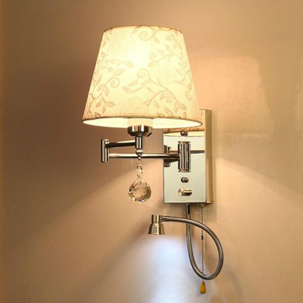 все цены на led wall lights E27 reading lamps wall mounted 110-220v loft home lighting bedside lamp luminarias онлайн