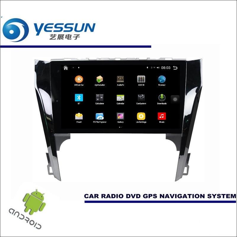Yessun автомобиля Android мультимедийный плеер для Toyota Camry xv50 2011 ~ 2017 Радио стерео GPS Географические карты nav Navi (без CD DVD) 10.1 HD Экран
