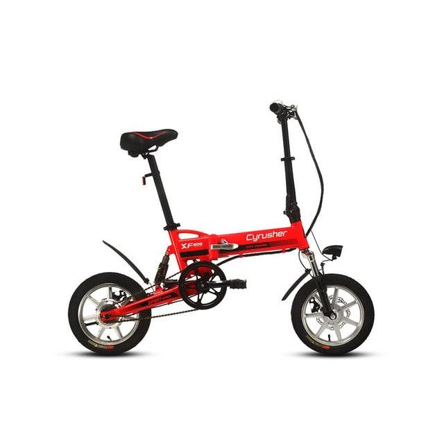 Cyrusher XF600 240 Вт 36 В 14 дюймов мини-Электрический велосипед складной полный кадр Подвески 3 скорости smart Электрический велосипед