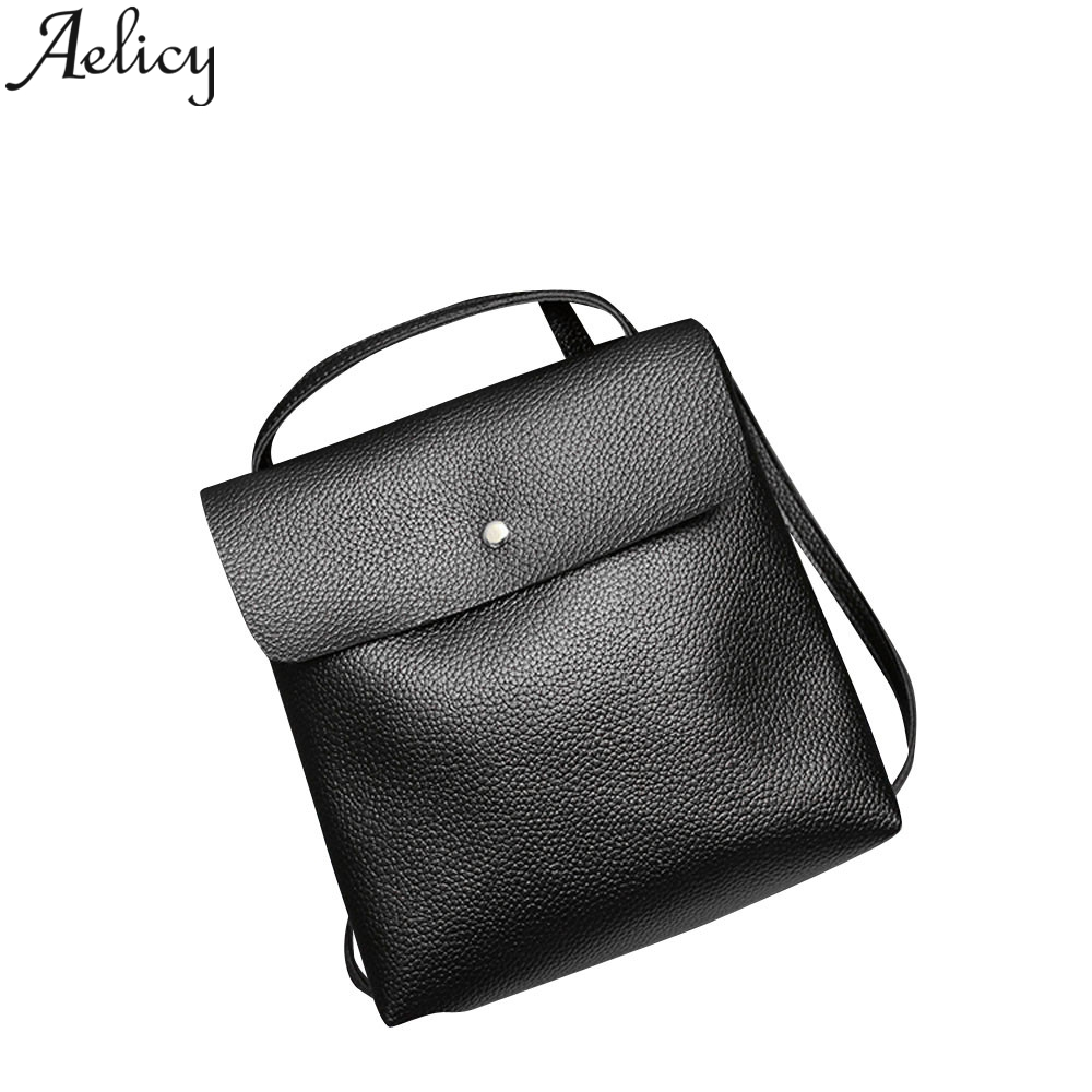 Aelicy Litchi Pattern With Shoulder Bag PU Leather Ladies Backpack Girl Shoulder Mini Backpack Mini Backpacks For Teenage GirlsAelicy Litchi Pattern With Shoulder Bag PU Leather Ladies Backpack Girl Shoulder Mini Backpack Mini Backpacks For Teenage Girls