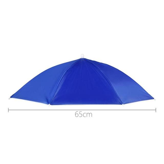 Foldable Umbrella Hat Fishing Hat Hiking Camping Beach Headwear Sun Cap Head Hats Outdoor Sport Fishing Tackle Accessory tool 4