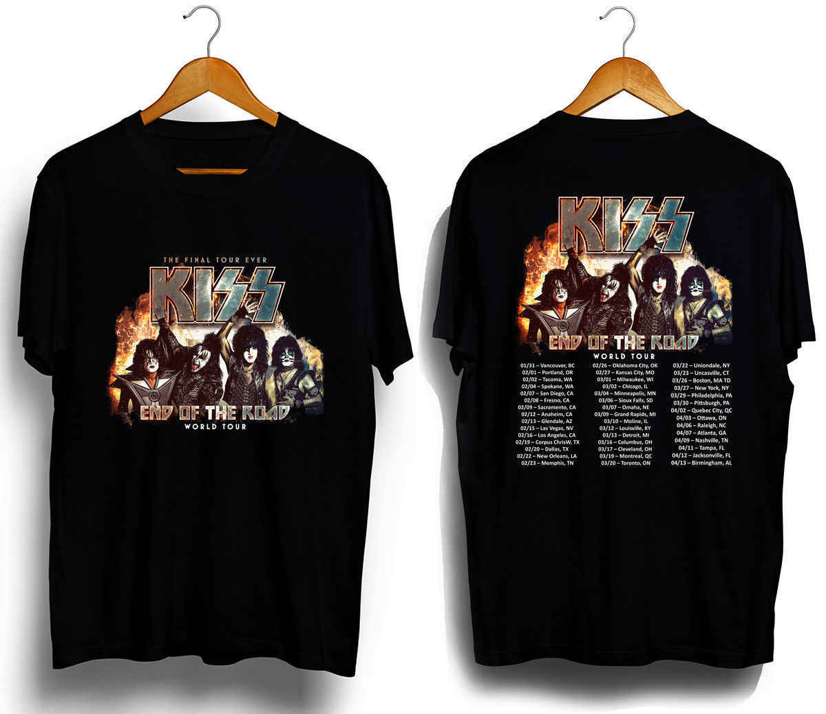 d12330e47 Detail Feedback Questions about New Kiss Band End of The Road Tour ...