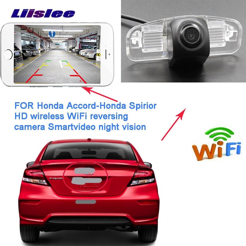 LiisLee caméra arrière pour Honda Spirior 2009 ~ 2012 Accord 9 pour Acura TSX 2 Vision nocturne caméra sans fil à plaque d'immatriculation inversée