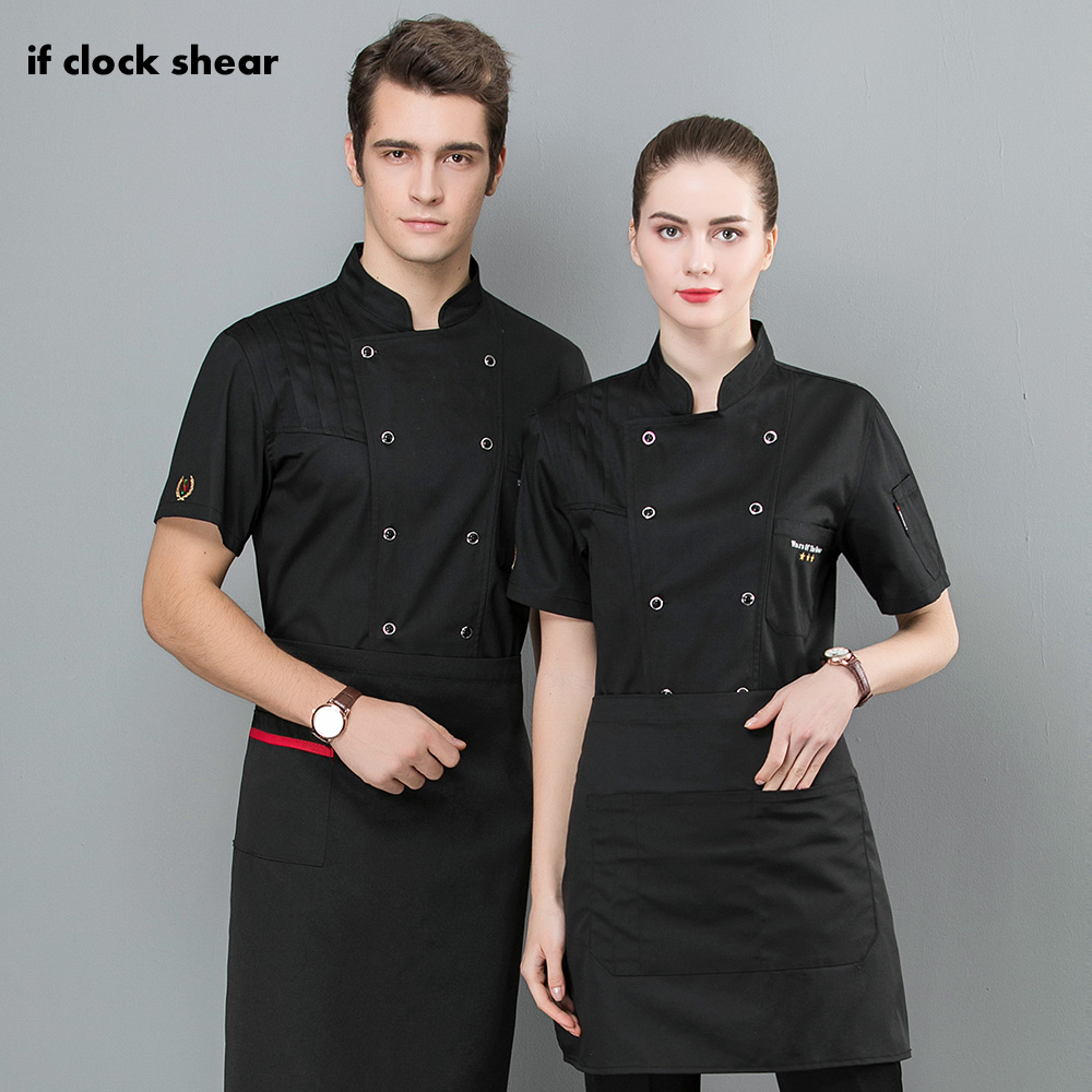 Kitchen Work Uniforms Men Short Sleeves Breathable Mesh Patchwork Chef Food Service Cuisine Cook Workwear T-shirt Aprons M-4XL