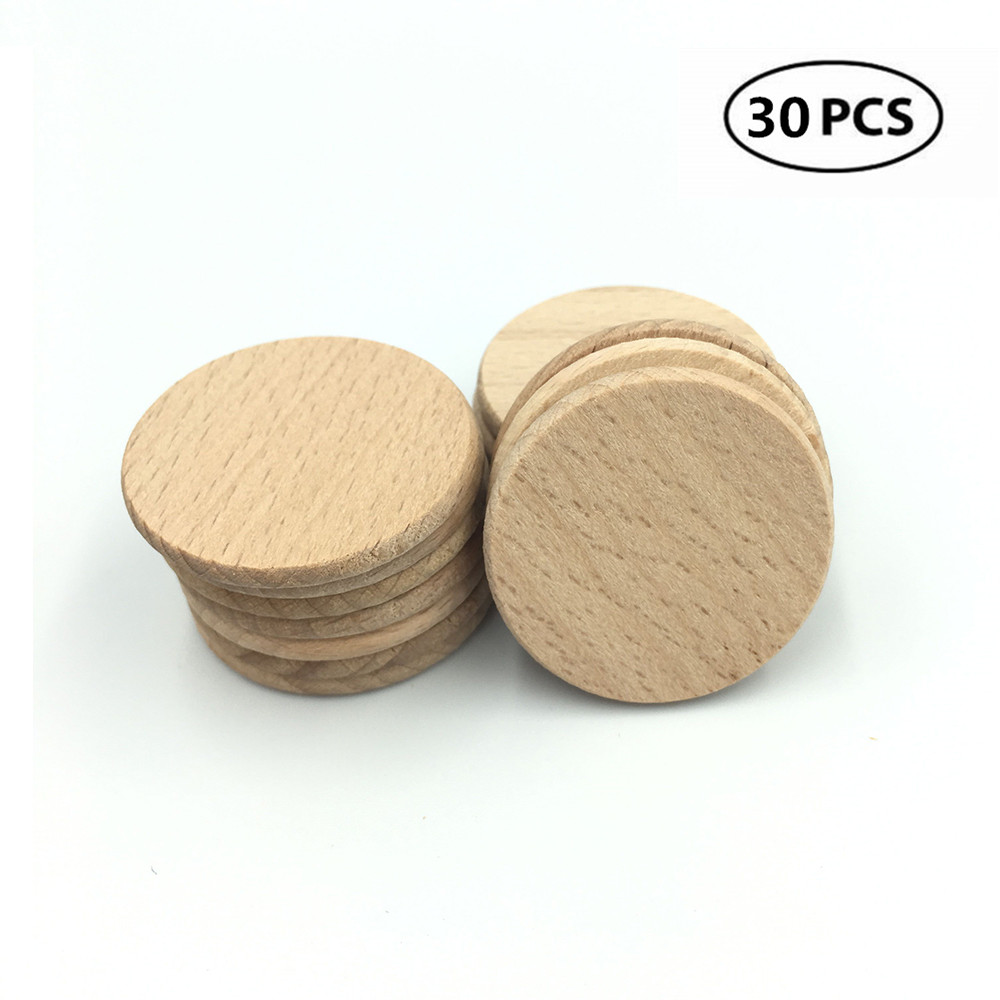 Unfinished Natural Wooden Beads Round  Decoupage Craft Projects