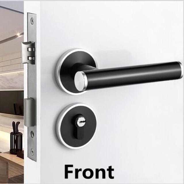 Moderne eenvoudige mute mechanische split kamer deurslot, zwart ...
