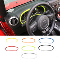 New Products for 6 Colors Car Interior Accessories ABS Dashboard Decoration Ring Trim for Jeep Wrangler 11 up