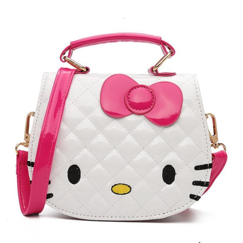New Young Girls Bag Crossbody hello kitty Bags For Baby Girls Pick PU Children Shoulder Bag Fashion Small Kids Princess Handbag new korea style fashion handbag cute kids children fashion brand princess party crossbody bag with gold chain for baby girls