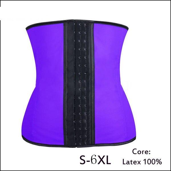 d03a2a047c Latex waist cincher latex Waist trainer corsets 9 steel bone corset  slimming gaine amincissante waist trainer girdle Belt