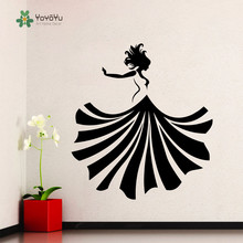YOYOYU Wall Decal Girl Dancing Sticker Dress Fashion Beauty Shop Poster Vinyl Art Removeable Adesivi Parede YO161