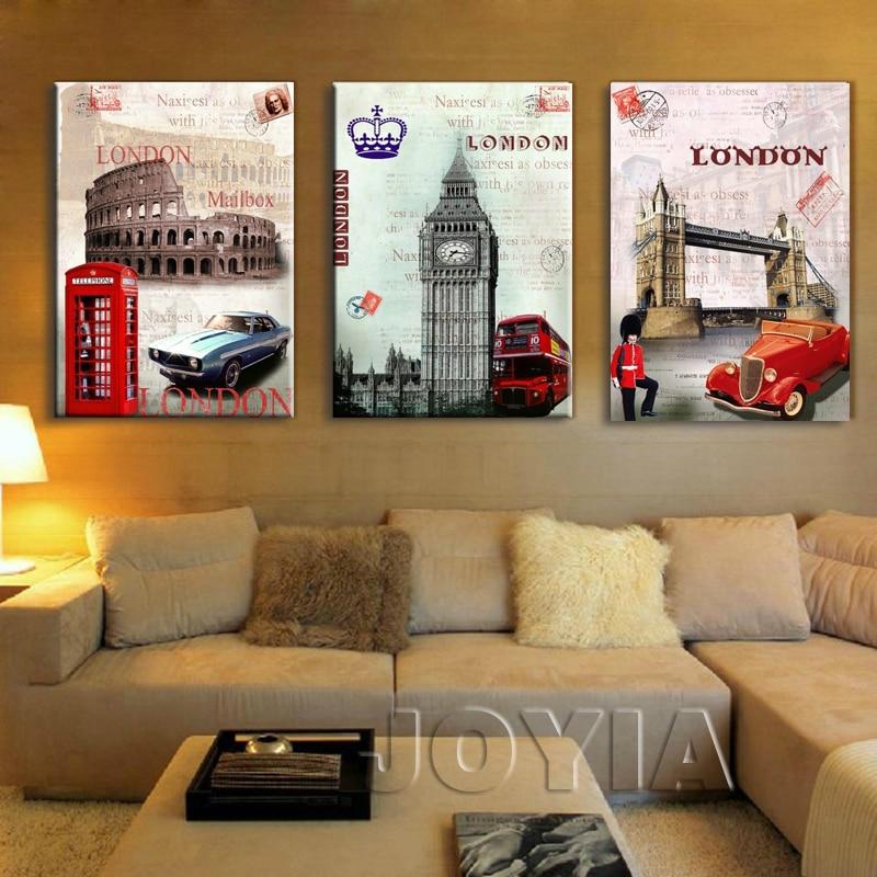 3 կտոր Պատի նկարներ Եվրոպա ոճ - Տնային դեկոր - Լուսանկար 2