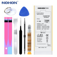 Original NOHON Phone Battery For IPhone 6 6G 2200mAh Max Capacity Replacement Batteries Lithium Polymer Bateria