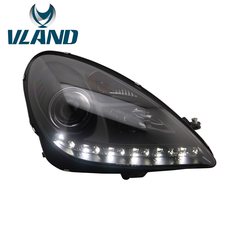 VLAND Factory For Car Headlamp For <font><b>R171</b></font> <font><b>Headlight</b></font> 2004-2011 SLK200 SLK250 SLK350 LED Head Light Xenon Len With DRL Plug And Play image