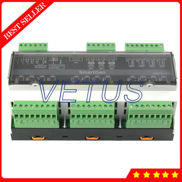 AIN16-C Analog input module With16 analog input channels Used with HMC9000 together Modular design Analog input module